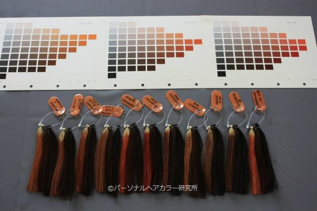 オレンジ・カッパー系ヘアカラー